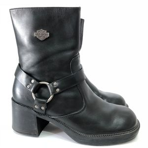 Harley Davidson Women's Ashby Leather Moto Boots